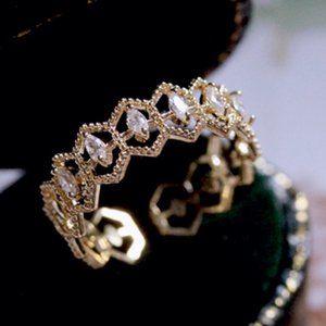 Lace Zircon open ring